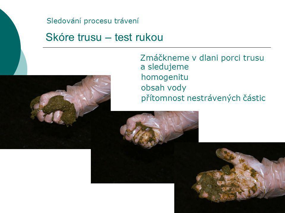 Skóre trusu – test rukou