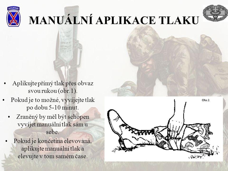 MANUÁLNÍ APLIKACE TLAKU