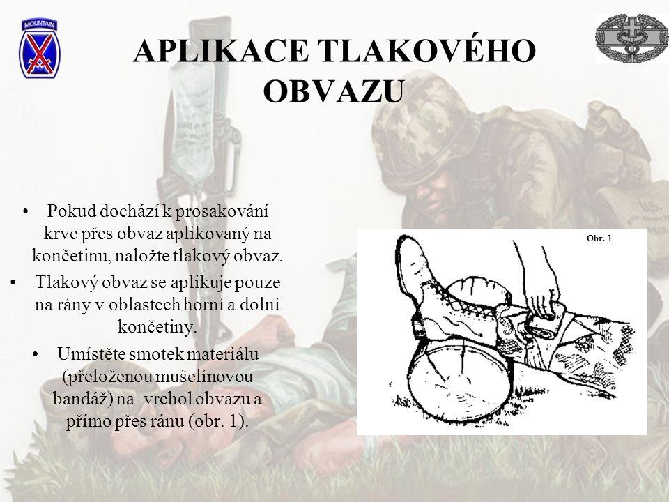 APLIKACE TLAKOVÉHO OBVAZU