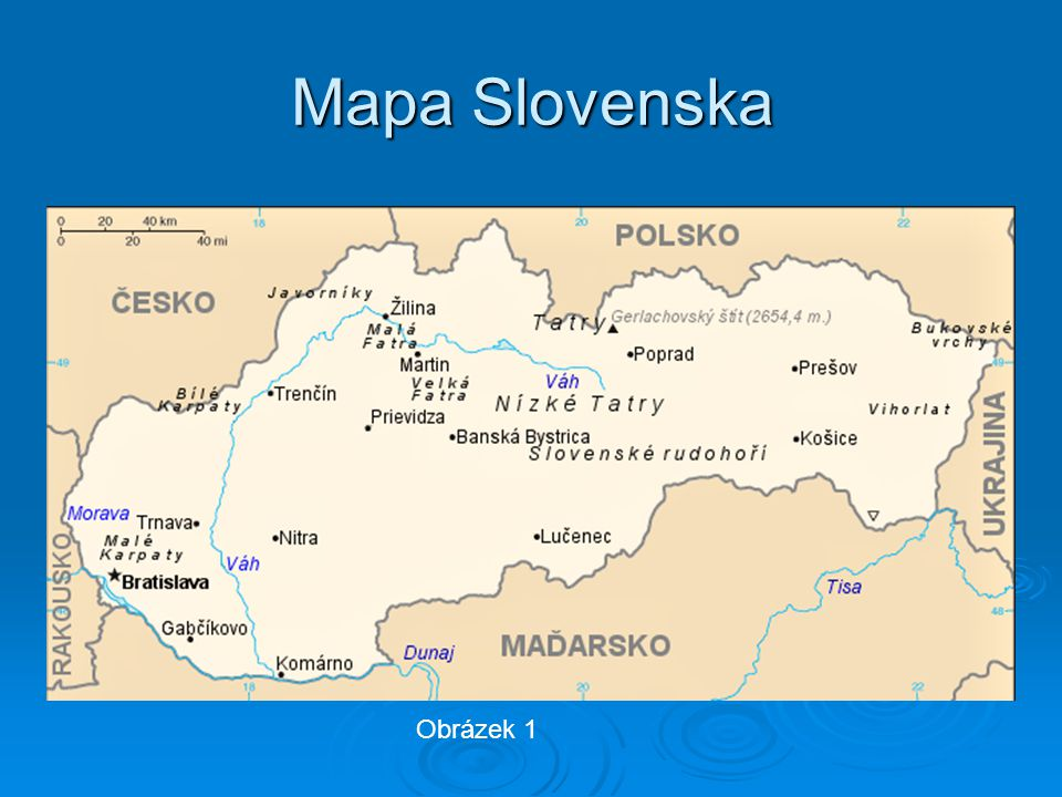 Mapa Slovenska Obrázek 1