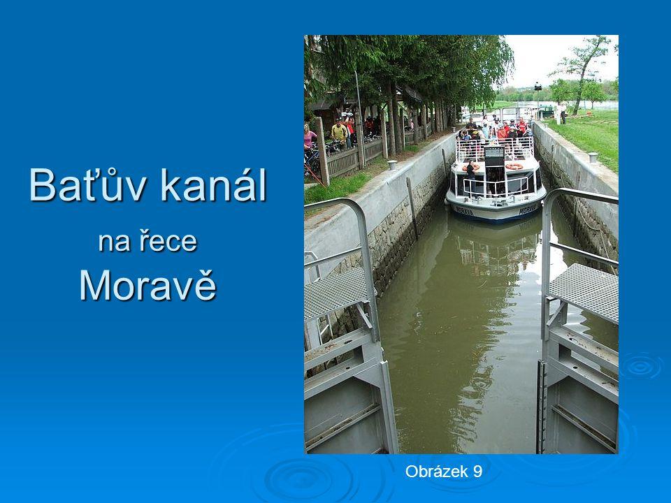 Baťův kanál na řece Moravě