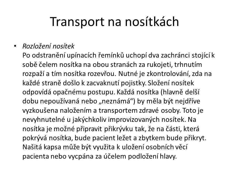 Transport na nosítkách
