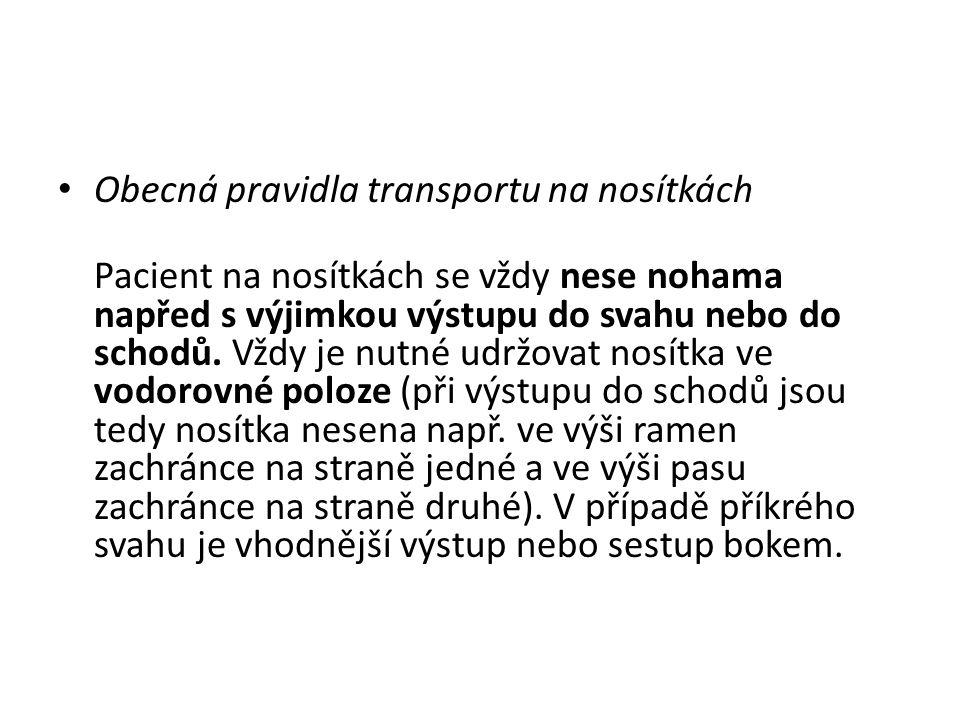 Obecná pravidla transportu na nosítkách