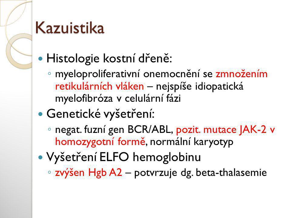 Kazuistika Histologie kostní dřeně: Genetické vyšetření: