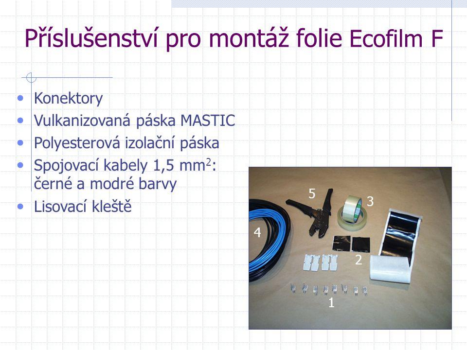 Příslušenství pro montáž folie Ecofilm F