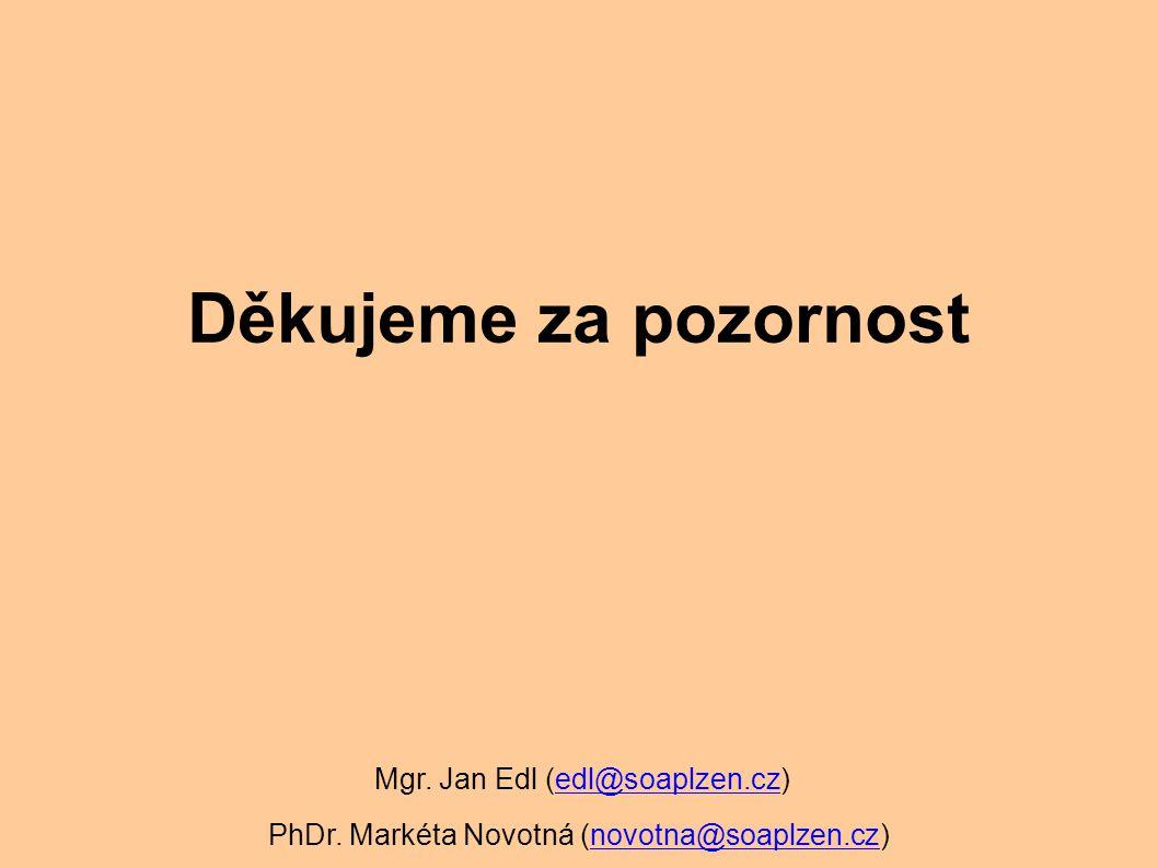 Děkujeme za pozornost Mgr. Jan Edl (edl@soaplzen.cz)