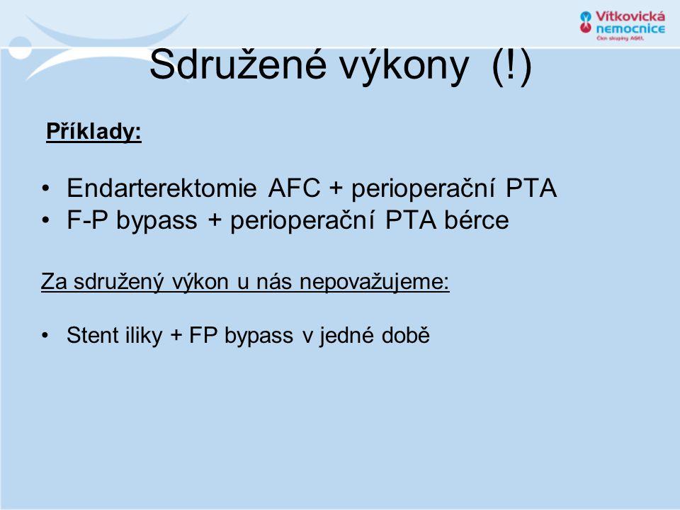 Sdružené výkony (!) Endarterektomie AFC + perioperační PTA