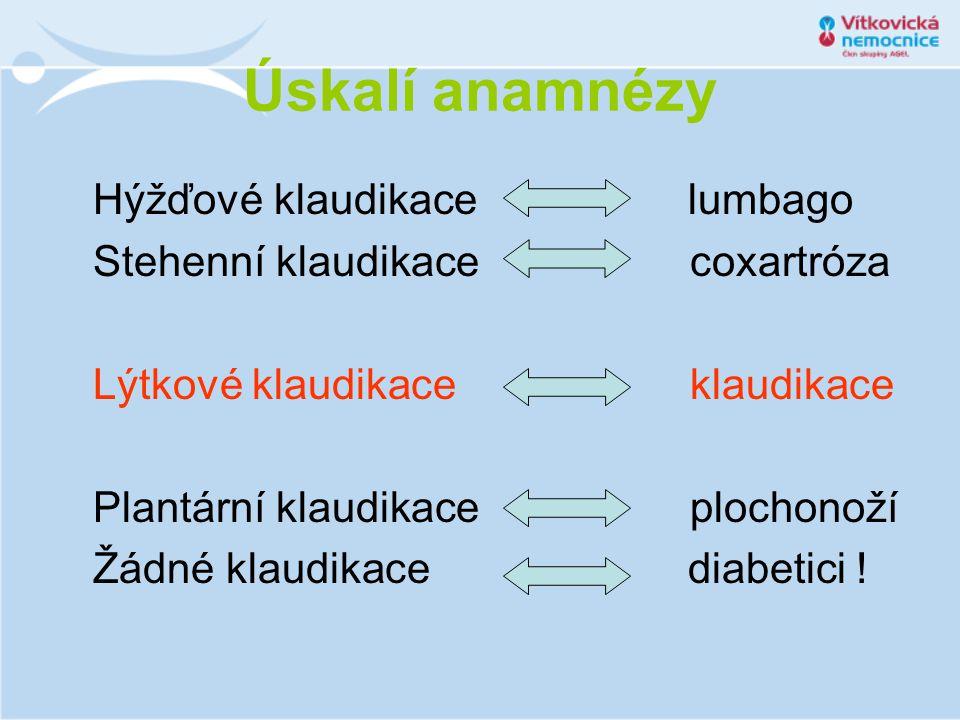 Úskalí anamnézy Hýžďové klaudikace lumbago