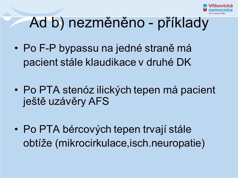 Ad b) nezměněno - příklady