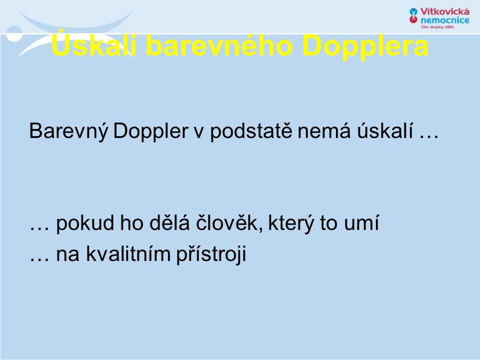 Úskalí barevného Dopplera