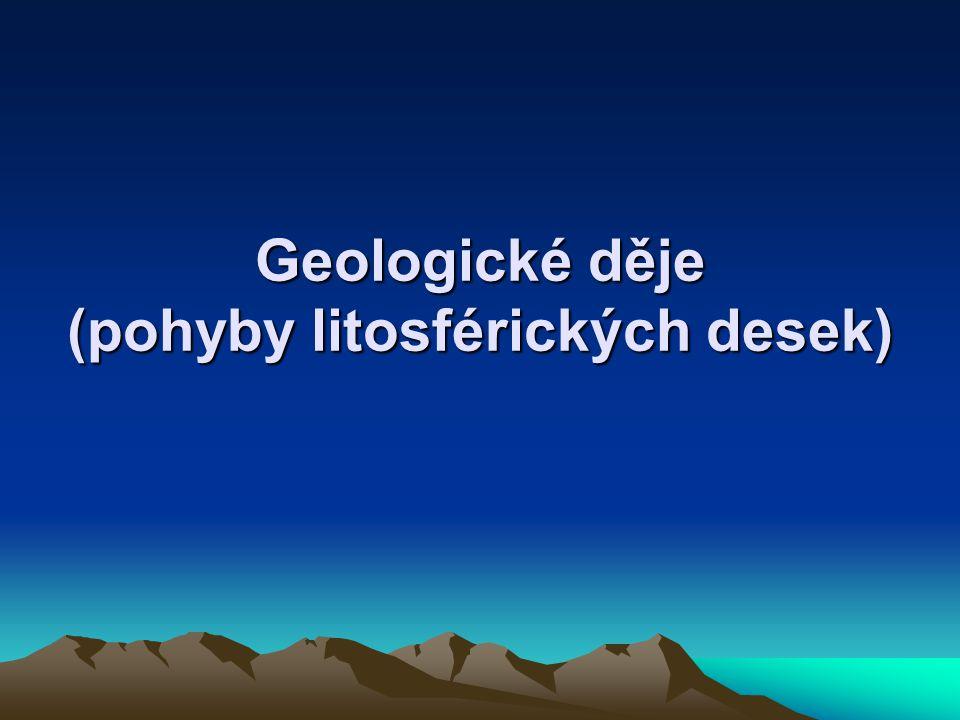 Geologické děje (pohyby litosférických desek)