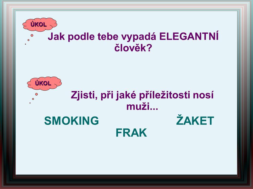 SMOKING ŽAKET FRAK Jak podle tebe vypadá ELEGANTNÍ člověk