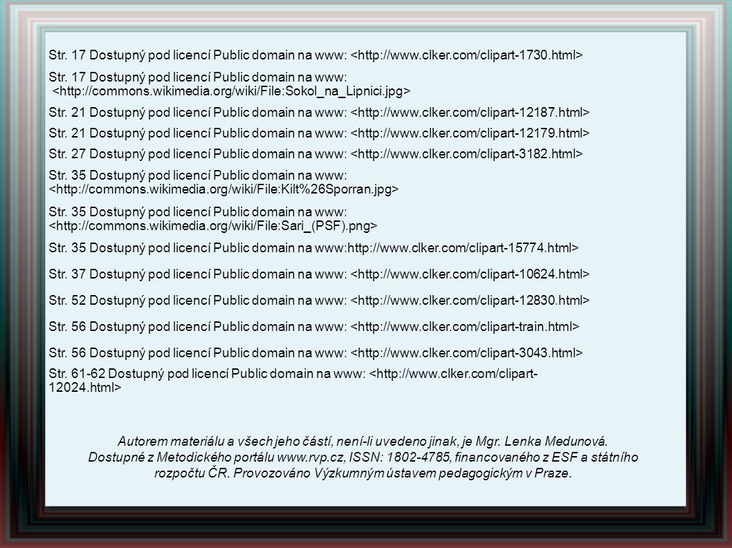 Str. 17 Dostupný pod licencí Public domain na www: <http://www