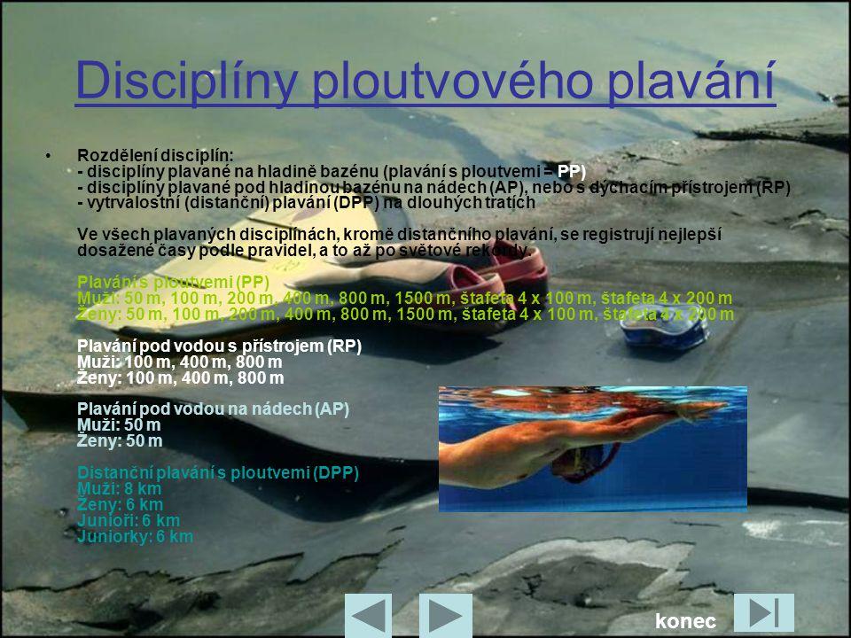 Disciplíny ploutvového plavání