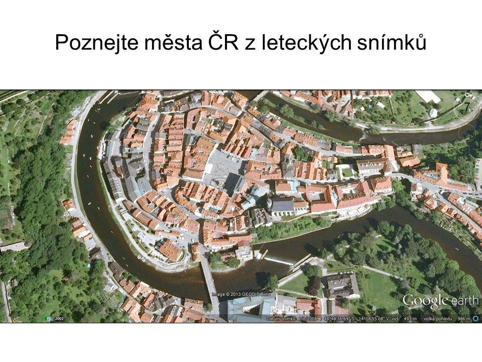Poznejte města ČR z leteckých snímků