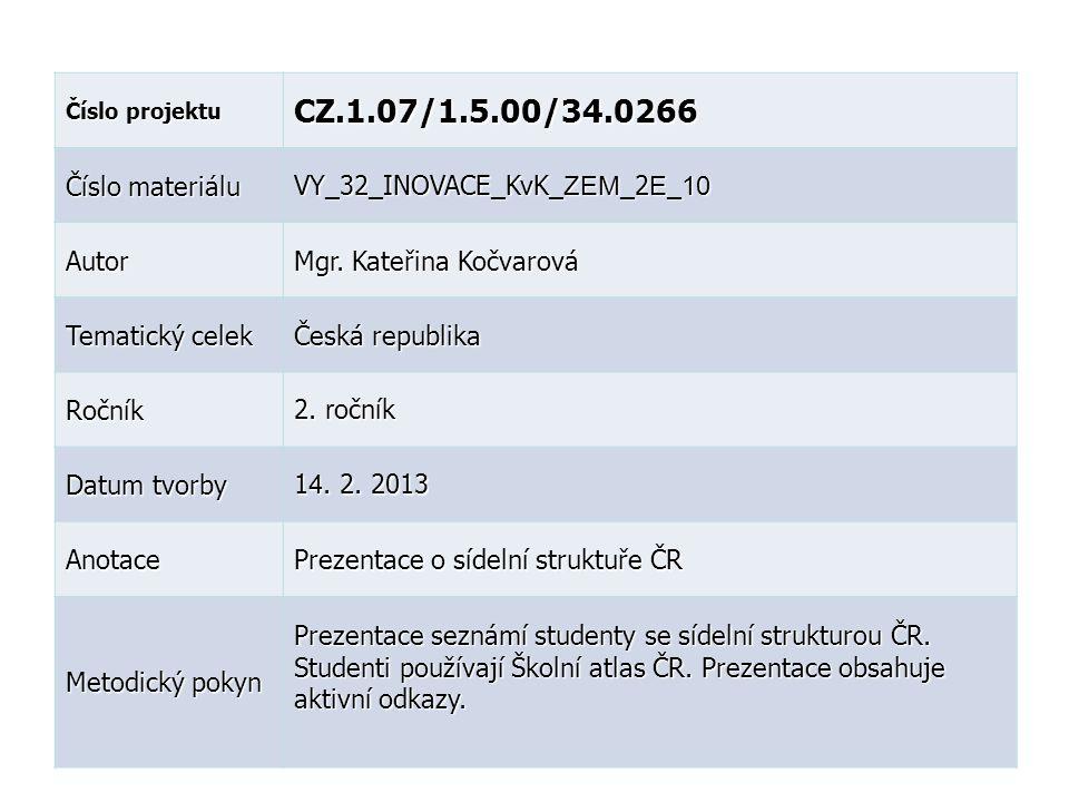 CZ.1.07/1.5.00/34.0266 Číslo materiálu VY_32_INOVACE_KvK_ZEM_2E_10