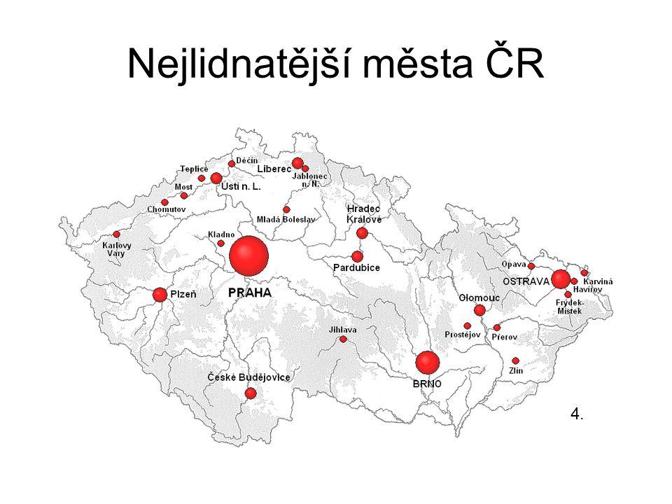 Nejlidnatější města ČR