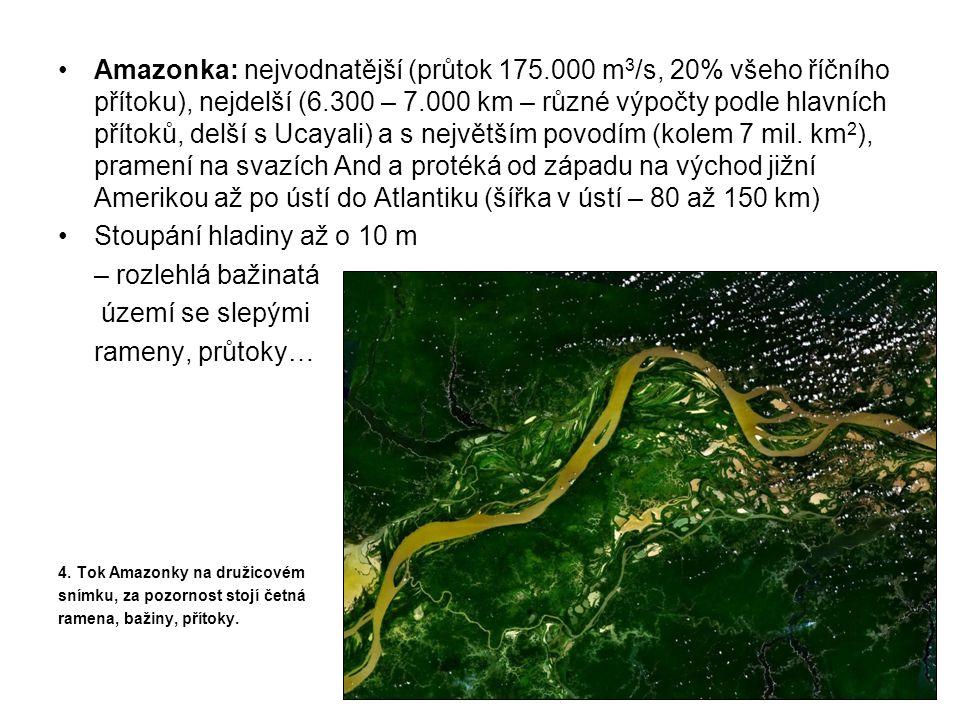 Amazonka: nejvodnatější (průtok 175
