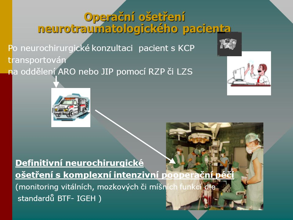 Operační ošetření neurotraumatologického pacienta