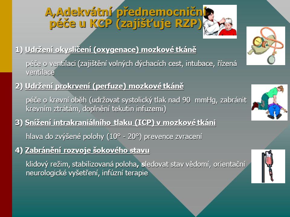 A,Adekvátní přednemocniční péče u KCP (zajišťuje RZP)