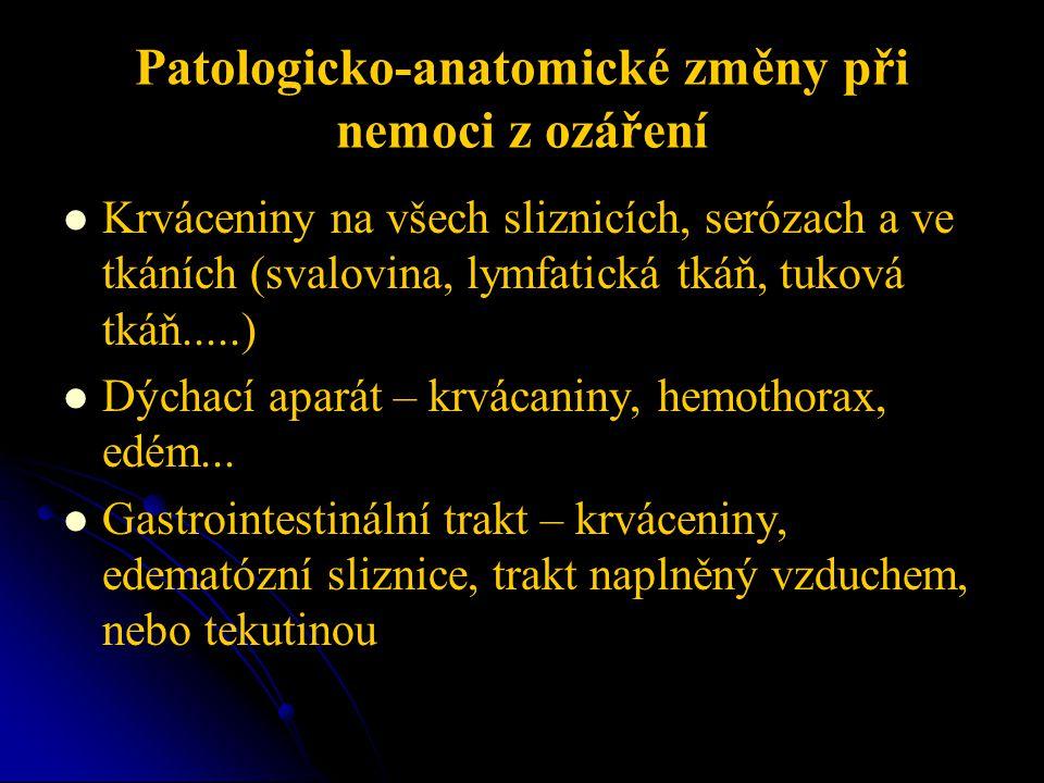 Patologicko-anatomické změny při nemoci z ozáření