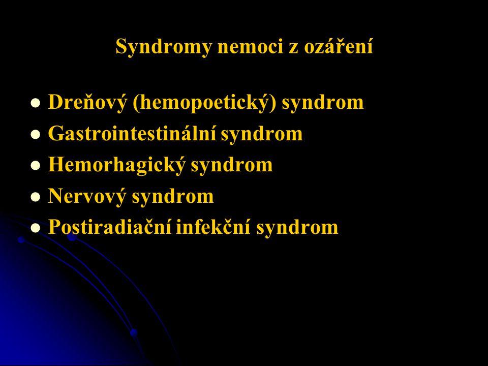 Syndromy nemoci z ozáření