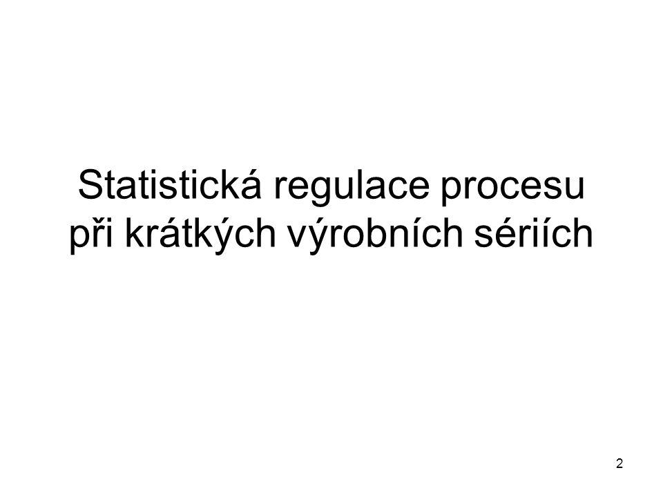 Statistická regulace procesu při krátkých výrobních sériích