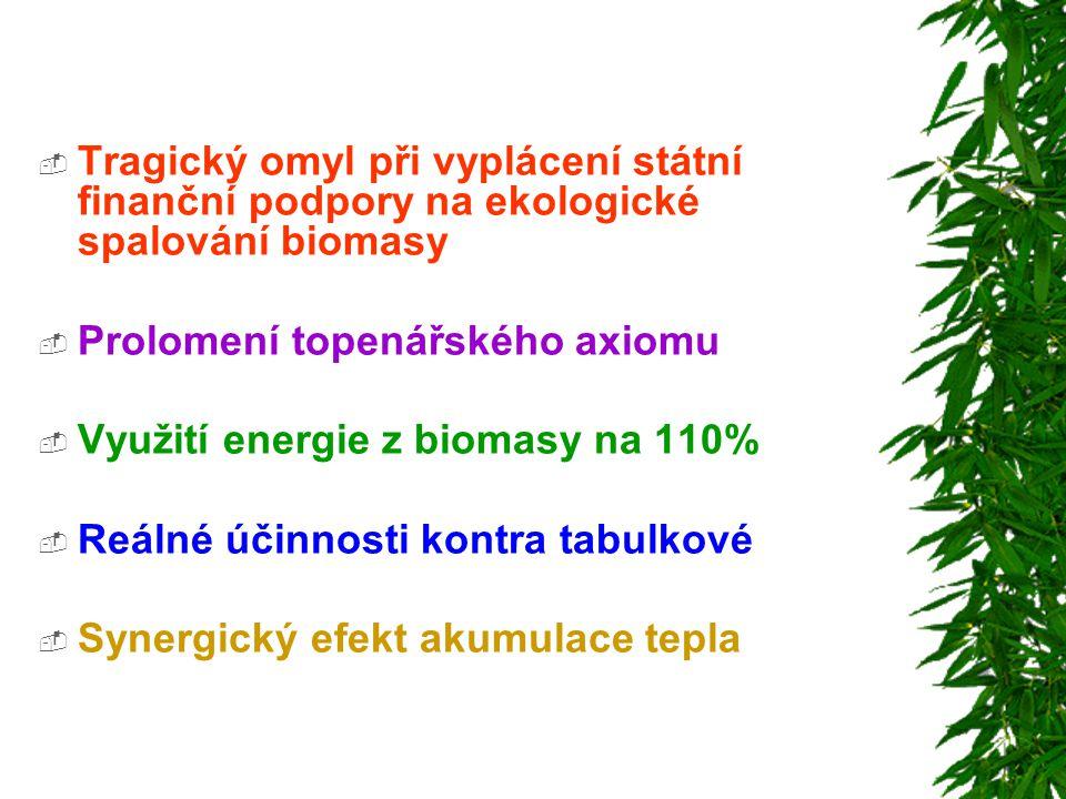 Tragický omyl při vyplácení státní finanční podpory na ekologické spalování biomasy