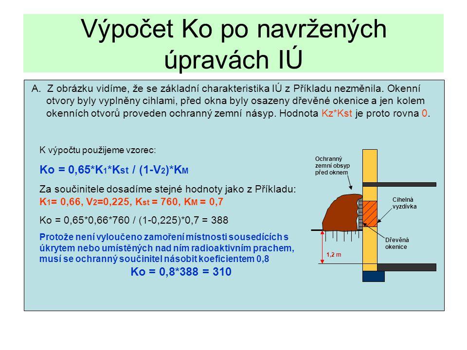 Výpočet Ko po navržených úpravách IÚ