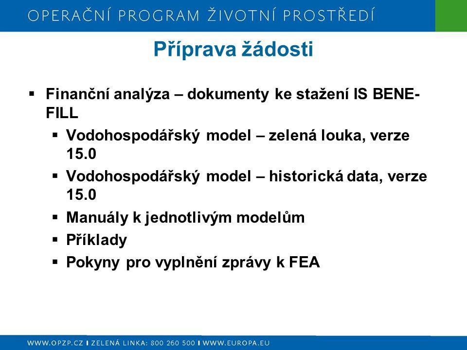 Příprava žádosti Finanční analýza – dokumenty ke stažení IS BENE-FILL