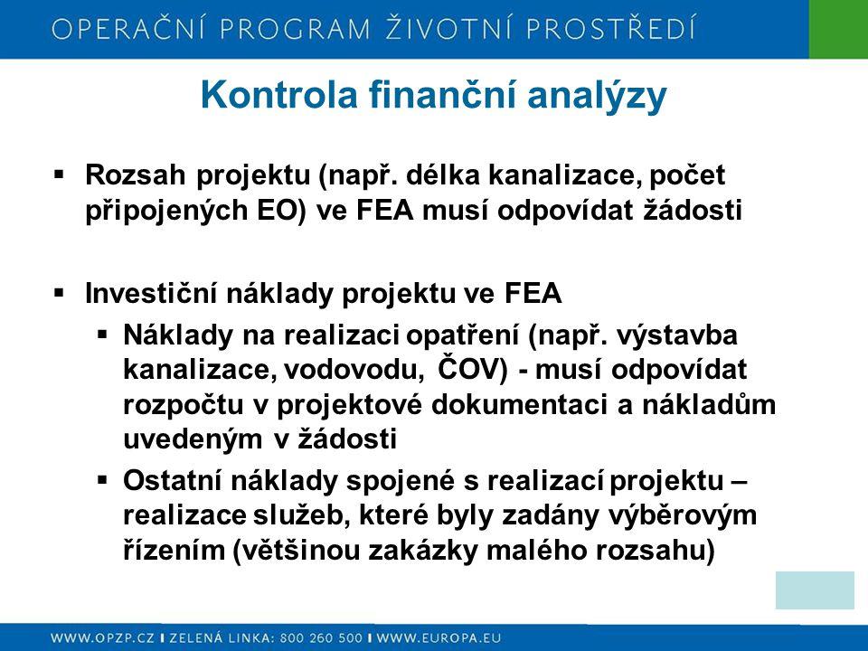 Kontrola finanční analýzy