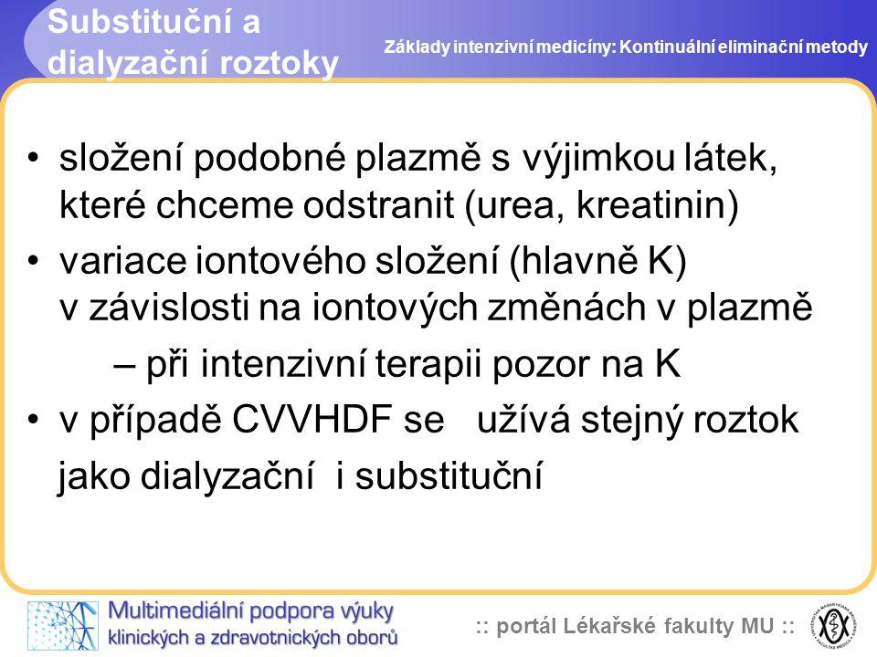 Substituční a dialyzační roztoky
