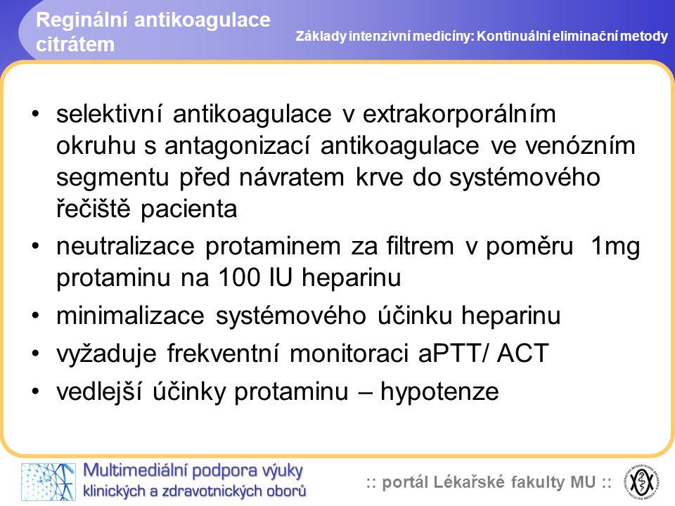 Reginální antikoagulace citrátem
