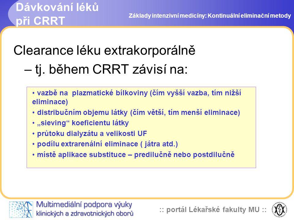 Dávkování léků při CRRT
