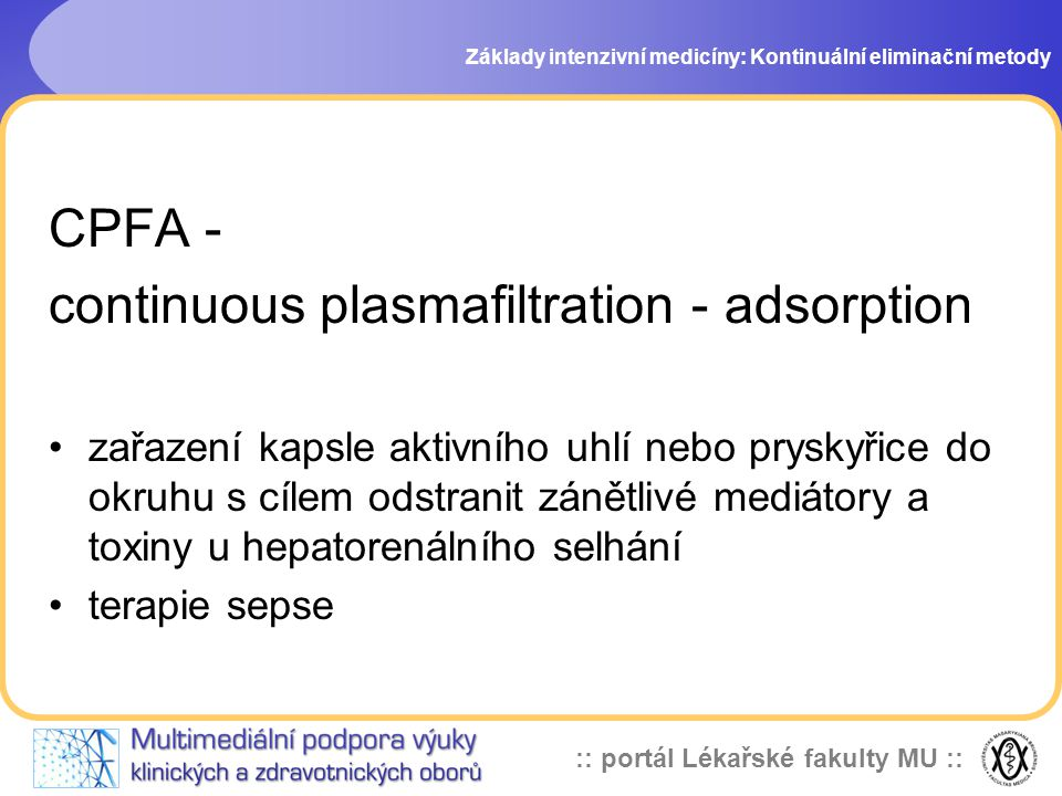 continuous plasmafiltration - adsorption