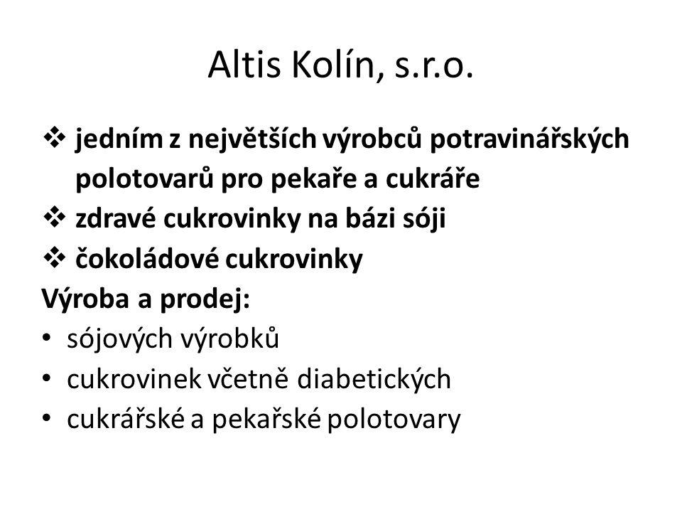 Altis Kolín, s.r.o. jedním z největších výrobců potravinářských