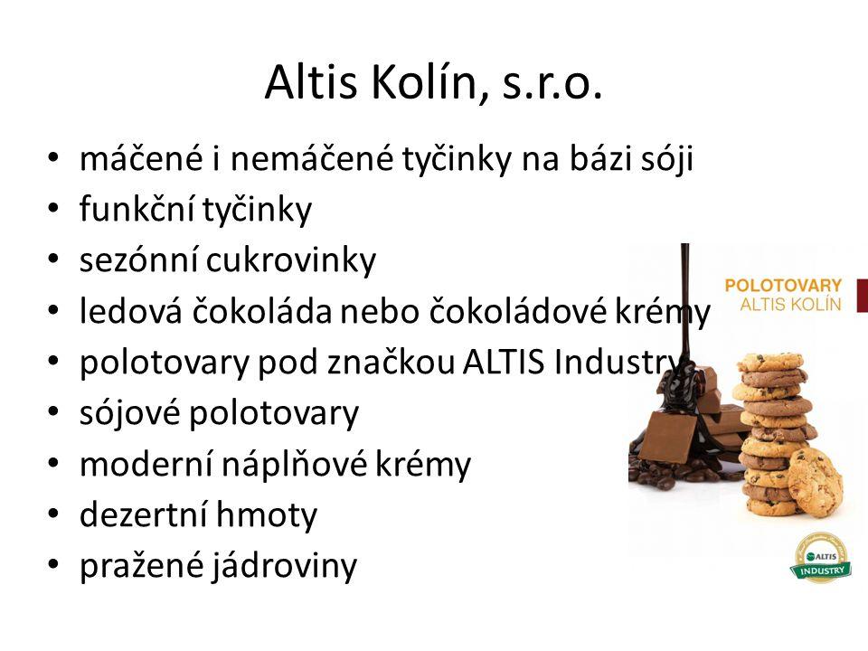 Altis Kolín, s.r.o. máčené i nemáčené tyčinky na bázi sóji