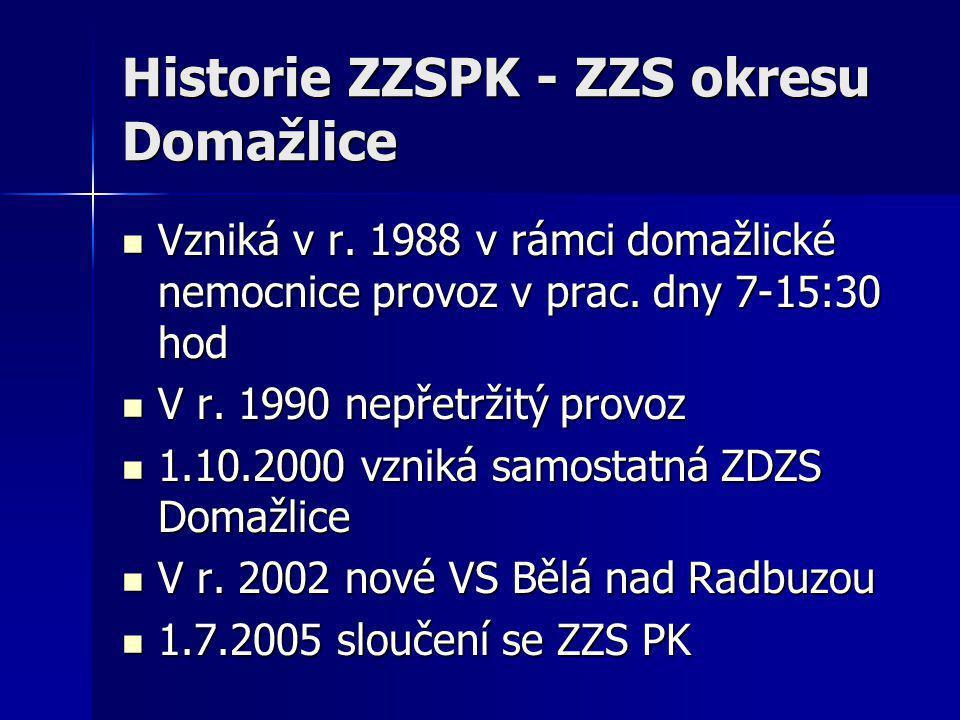 Historie ZZSPK - ZZS okresu Domažlice