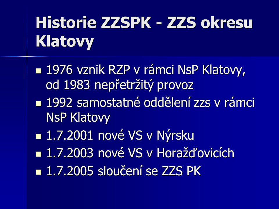 Historie ZZSPK - ZZS okresu Klatovy