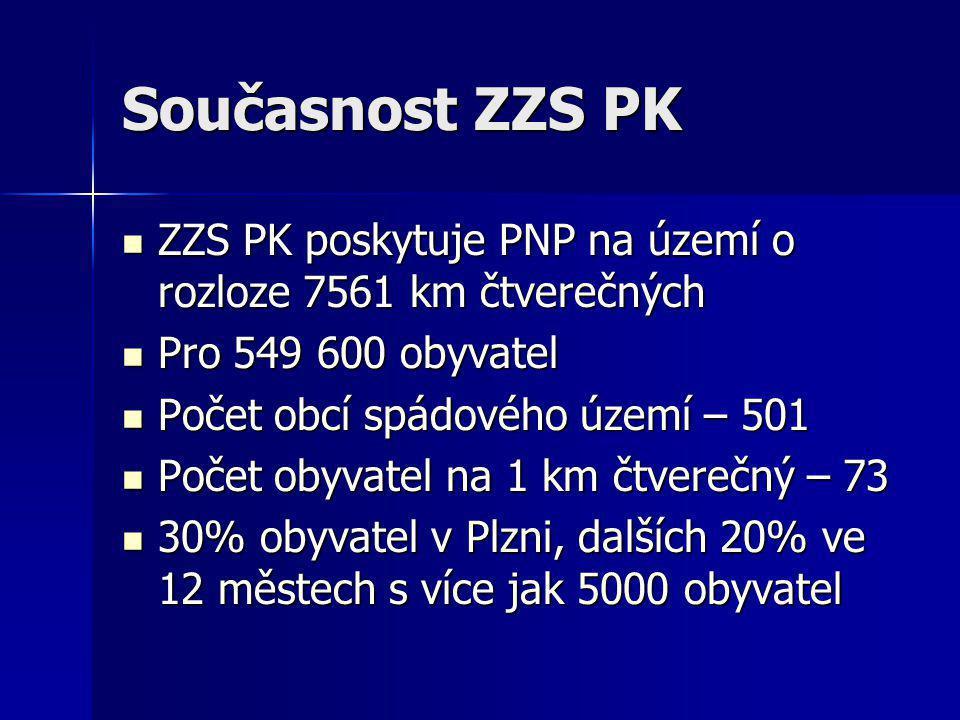 Současnost ZZS PK ZZS PK poskytuje PNP na území o rozloze 7561 km čtverečných. Pro 549 600 obyvatel.