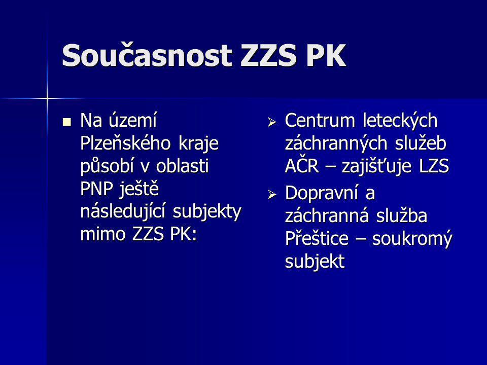Současnost ZZS PK Na území Plzeňského kraje působí v oblasti PNP ještě následující subjekty mimo ZZS PK: