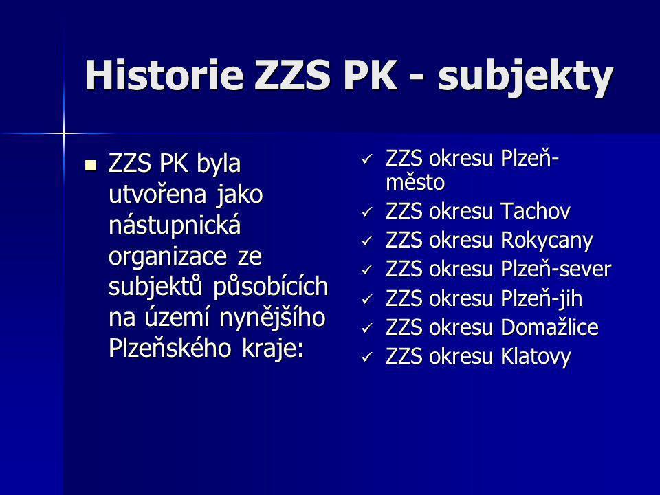 Historie ZZS PK - subjekty