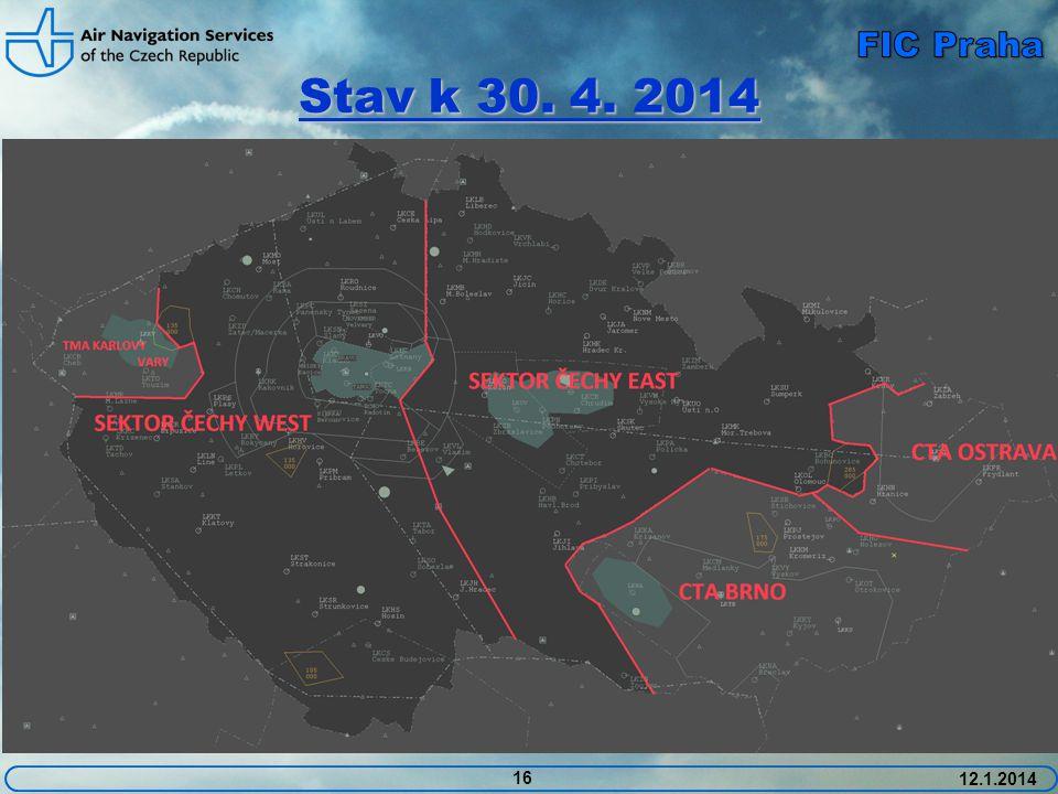 FIC Praha Stav k 30. 4. 2014 12.1.2014