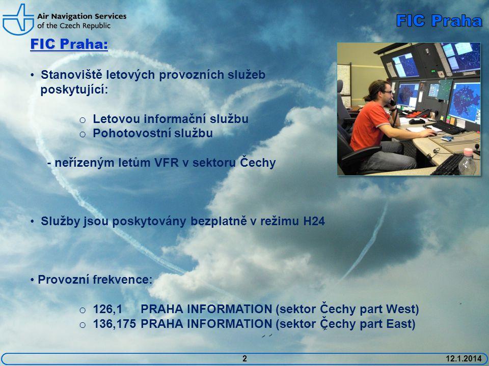 FIC Praha FIC Praha: Stanoviště letových provozních služeb