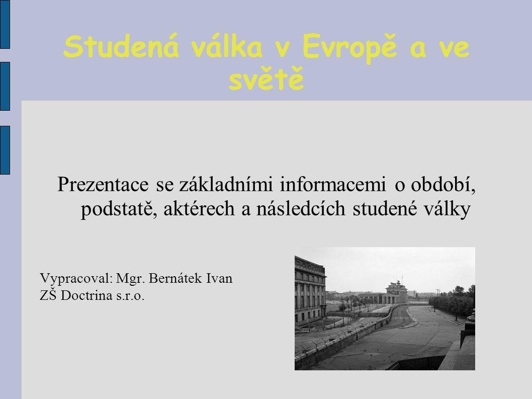 Studená válka v Evropě a ve světě