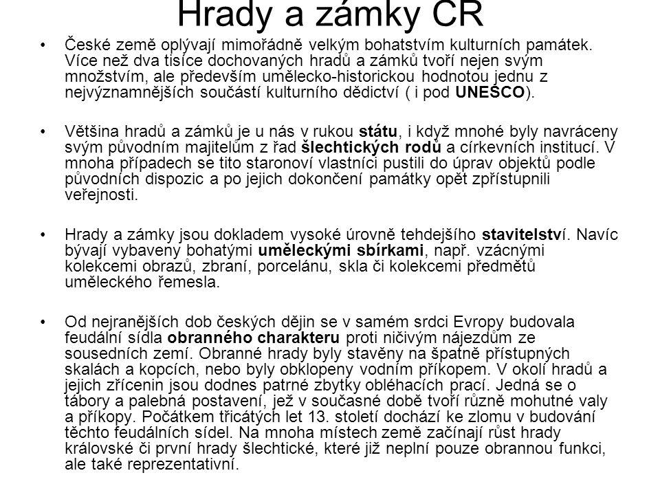 Hrady a zámky ČR