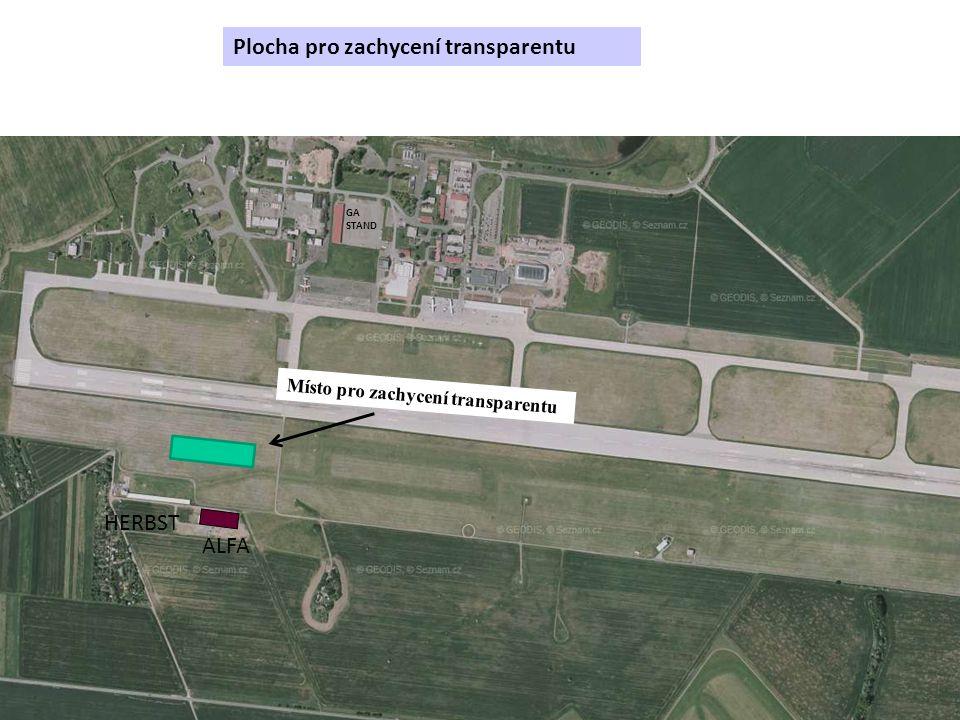 Plocha pro zachycení transparentu