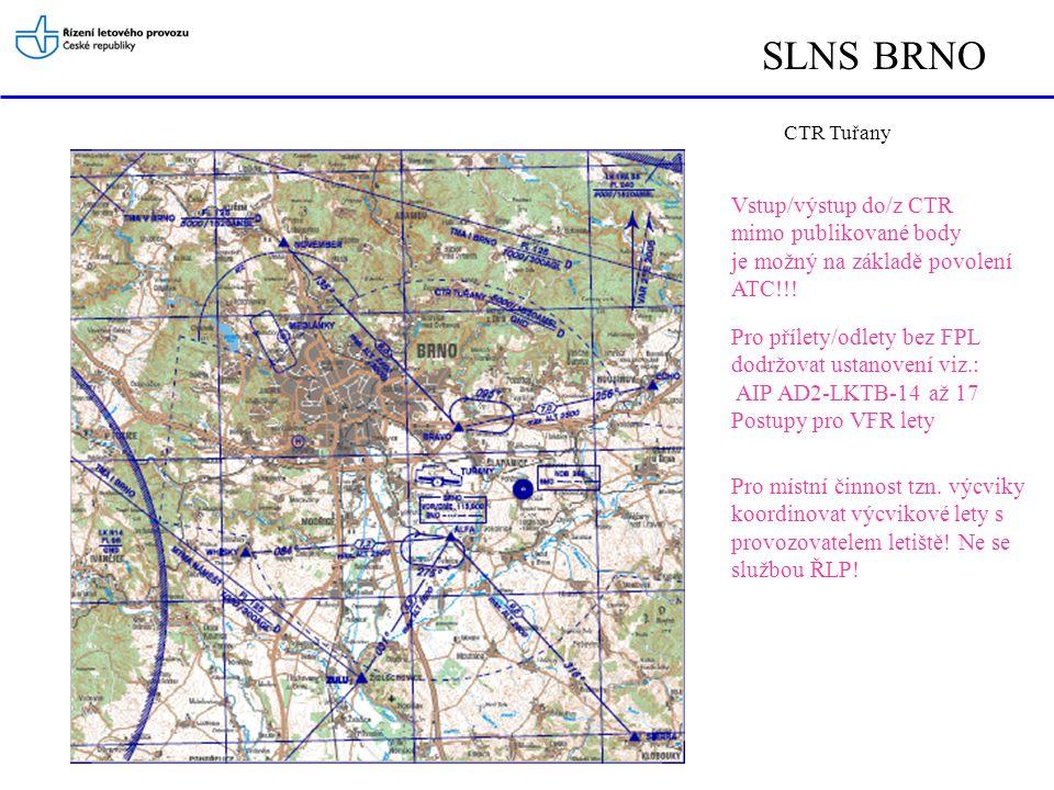 SLNS BRNO Vstup/výstup do/z CTR mimo publikované body