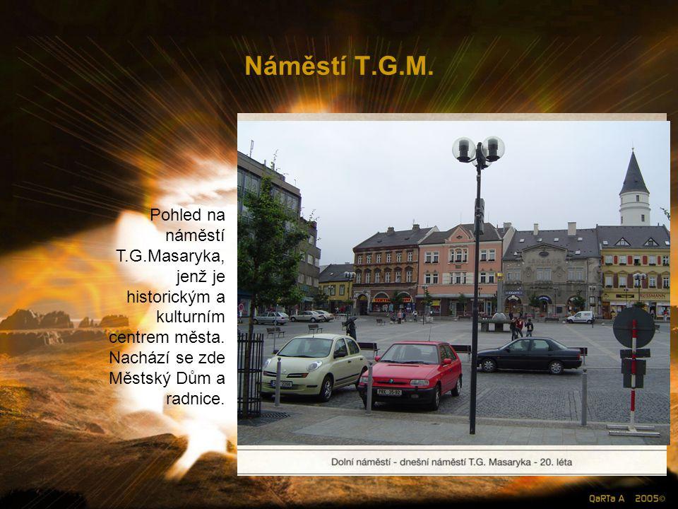 Náměstí T.G.M. Pohled na náměstí T.G.Masaryka,