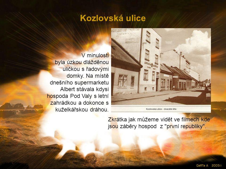 Kozlovská ulice V minulosti